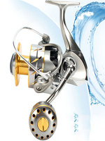 Spinning Fishing Reel High Drags Saltwater Stainless Metal Coils 3000/4000/6000/8000/10000 Series Left/Right Hand Spinning Wheel