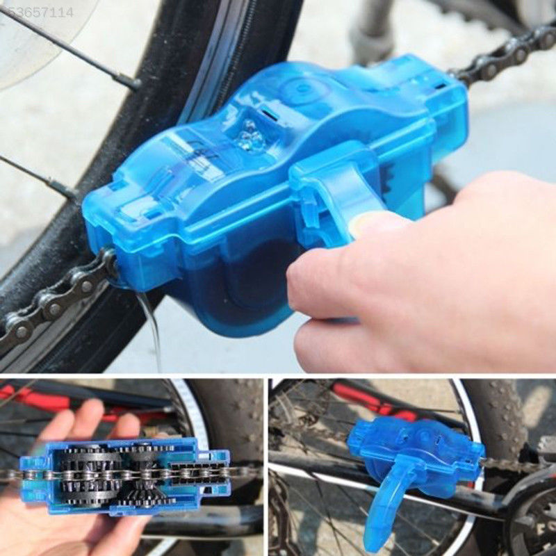 Portable Bicycle Chain Cleaner Mountain Bike Clean Machine Brushes MTB Road Bike Cycling Cleaning Kit Outdoor Sports Wash Tools