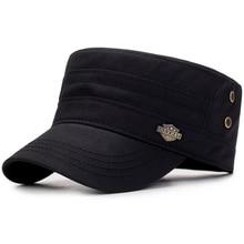 Cadet-Hat Military-Cap Flat-Top-Caps Autumn Vintage Summer Cotton Washed Female Men Casual