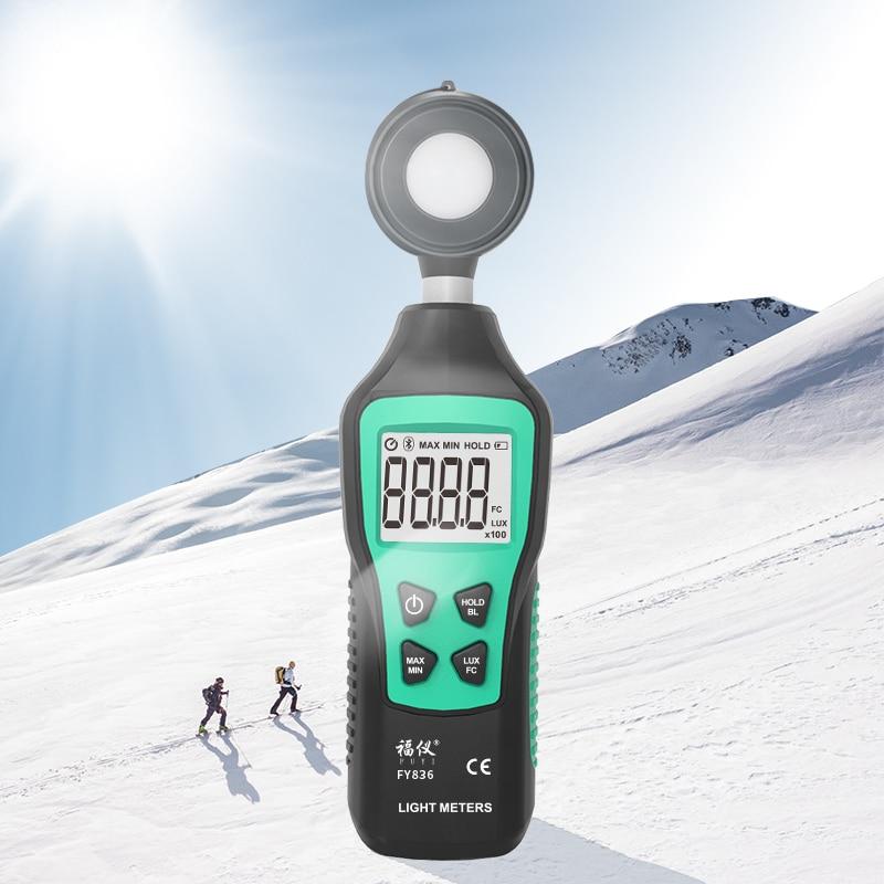 Compteur de lumière numérique 200,000 Portable Mini LUX Fotometro spectromètre Lux mètre luxomètre Luminance éclairage mètre