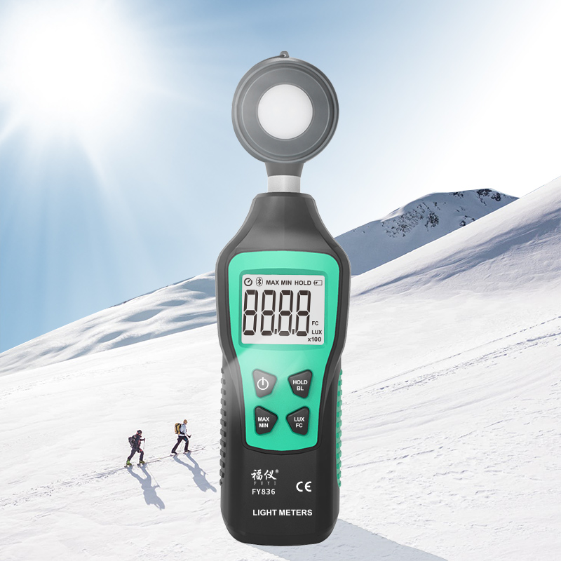Digital Light Meter 200,000 Portable Mini LUX Fotometro Spectrometer Lux Meter Luxometer Luminance Illumination Meter