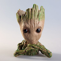 Guardians of The Galaxy Baby Groot Flowerpot Brush Pot Cute Model Action Figures Best Christmas Birthday Gifts