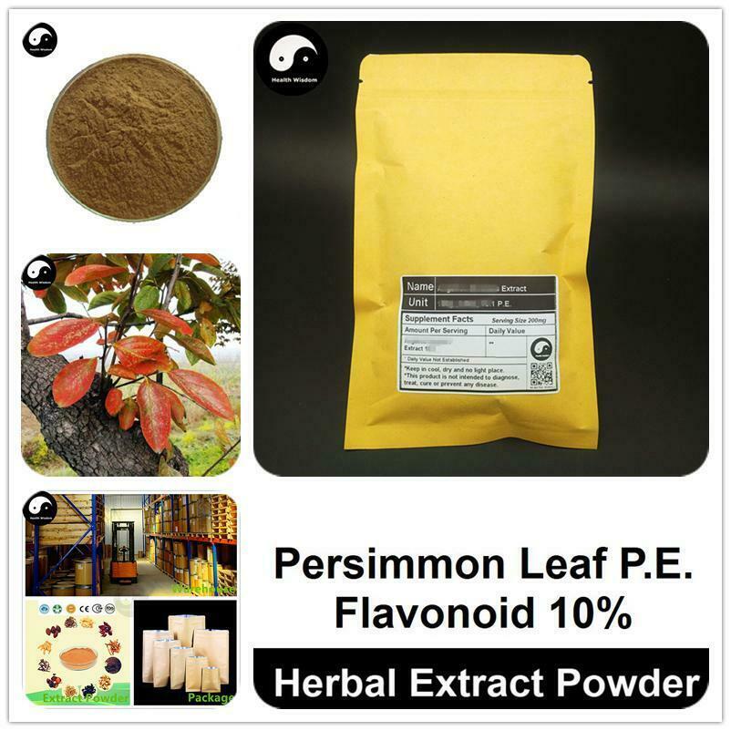 Persimmon Leaf Extract Powder, Diospyros Kaki P.E., Flavonoid 10%, Shi Ye