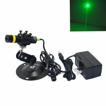 цена на Adjustable 515nm 30mW Green Dot Laser Module Laser Diode High Quality with holder and adapter