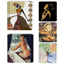 цена на Sexy People Theme Shower Curtain Waterproof Mildew Polyester Fabric Shower Curtain Bathroom Christmas Decor CM