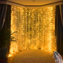 3M LED String Lights Curtain Remote Control USB Fairy Lights Garland Led Wedding Party Christmas for Window Home Outdoor Decor