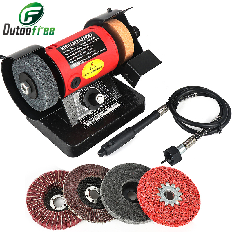 1 Set 150W Bench Versatility Grinder Table Saw Grinding Polishing Cutting Grinder Machines For Wood Metal Electrical Tools 220V