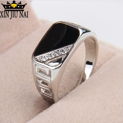 Stone Rings Jewelry Men 1PC Punk-Style Hollow-Out-Decor Hot-Sell