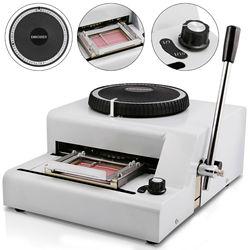 VEVOR Embossing Machine 72 Character Card Embosser for PVC Card Credit ID VIP Manual Embosser Machine Credit Card
