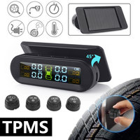 TPMS Tire Pressure Monitoring Universal External Sensor Real Time Display Windshield Tiffany Blue Color Wireless Car Alarm