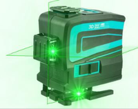 Laser Level 12 Lines 3D Self Leveling 360 Horizontal and Vertical Cross Super Powerful Green Laser Beam Line Construction Tools