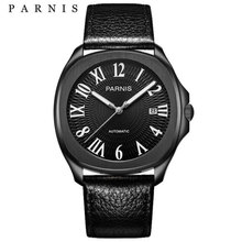 Parnis Automatic Watches Minimalist Watches Mens Wrist Watch Sapphire Crystal Mechanical Watches cheap 10Bar Leather Deployment Bucket Fashion Casual Automatic Self-Wind 23cm Stainless Steel Auto Date Complete Calendar Luminous Hands