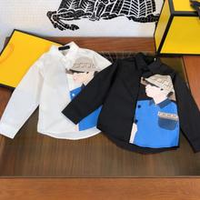 Boys spring and autumn fashion cotton long-sleeved shirt  size110- 160