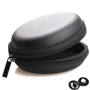 Image 1 - Earphone Storage Case PU Mini Carrying Hard Bag Box Case For Earphone Headphone Accessories Earbuds memory Card USB Cable