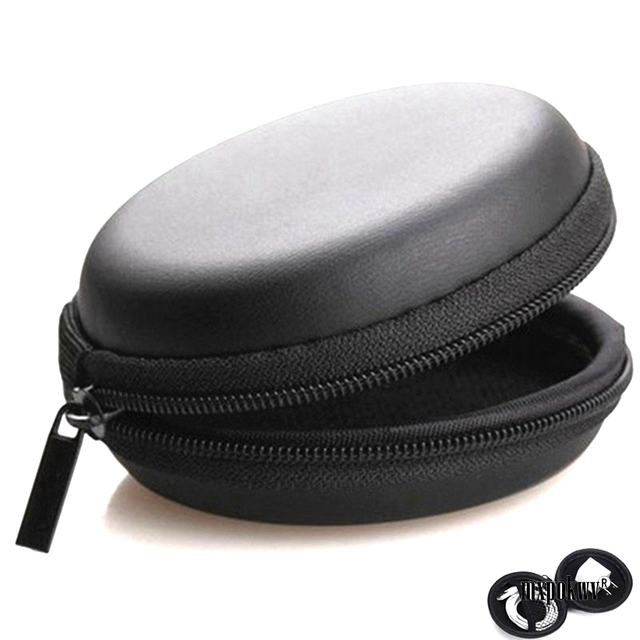 Earphone Storage Case PU Mini Carrying Hard Bag Box Case For Earphone Headphone Accessories Earbuds memory Card USB Cable