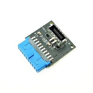 Компьютерные разъемы Riser USB 3,1 Передняя панель пк разъем для USB 3,0 20Pin коннектор удлинитель адаптер для материнской платы ASUS PW-INC1TR