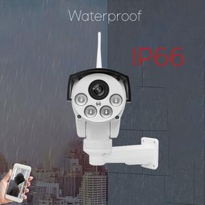 Image 4 - Snosecure wifi câmera ip ptz bala ao ar livre 5x 10x zoom óptico 5mp sem fio ir noite onvif áudio cctv câmera normal e poe