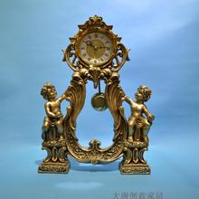 European-style craftsmanship bell silence angel boy sitting in the living room study desk auspicious lucrativ