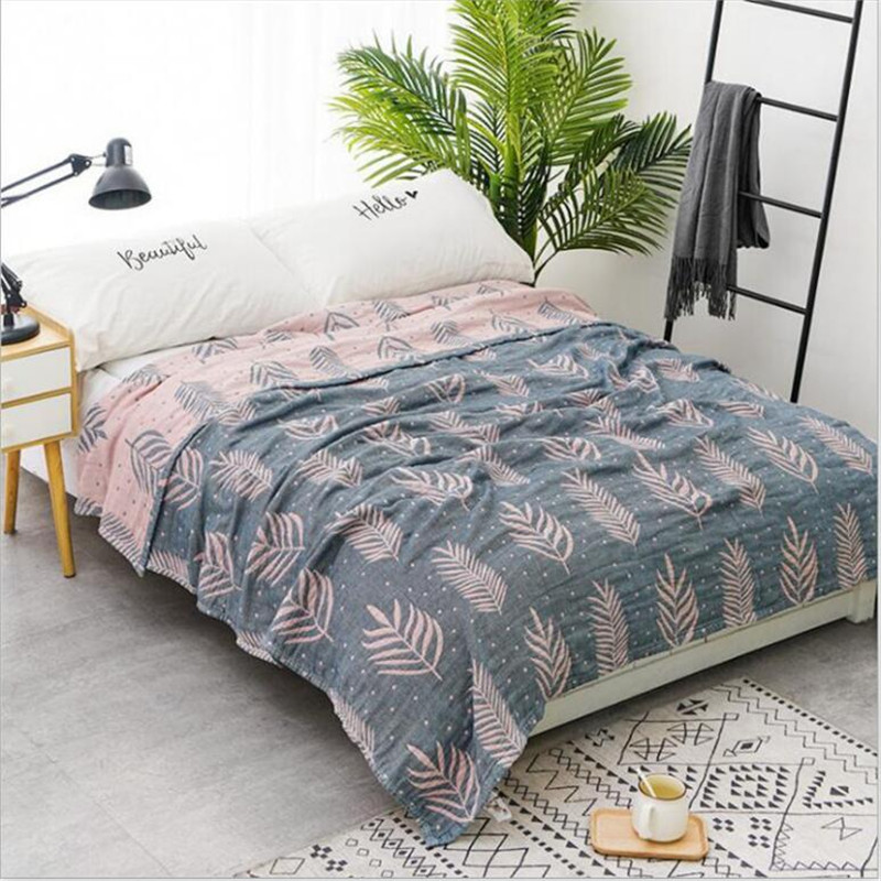 Bamboo Cotton Summer Air-condition Blanket Bedspreads Throw Blankets Knitted Blanket For Sofa Travel Blanket  150*200/200*230cm