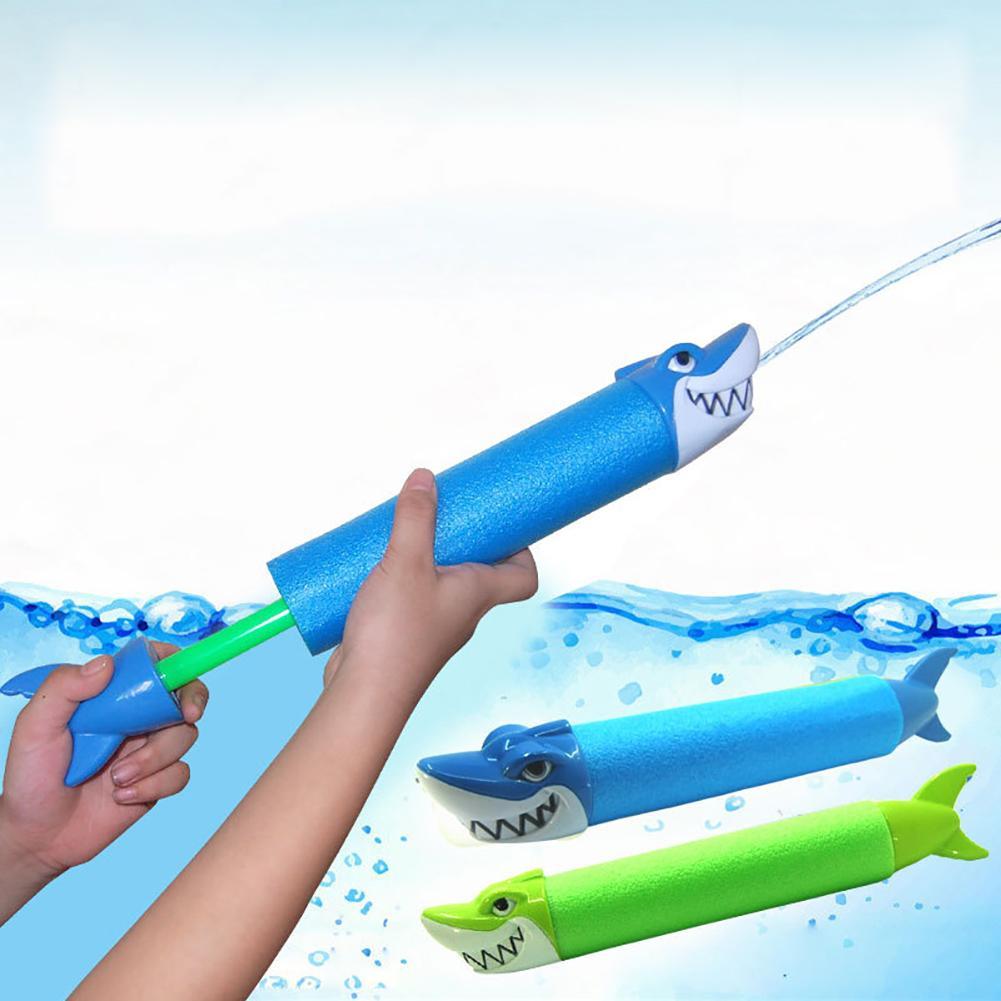 Animal Head Shape Design Summer Water Gun Outdoor Game Kids Swimming Pool Shark Crocodile Squirter Toy For Child Beach Games