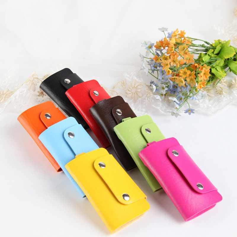 Универсальный однотонный Автомобильный Брелок-держатель для ключей, сумка из искусственной кожи, держатель для ключей, чехол для ключей