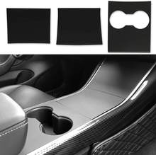Model 3 Model Y Center Console Wrap Abs Matte Black Console Cover Interieur Decoratie Wrap Kit - Model 3 Model Y Accessoires