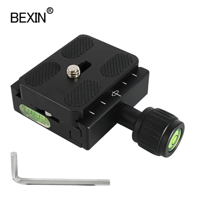 Quick Release Plate Clamp QR 50 Clamp Tripod Ball Head Mounting Clamp Camera Bracket Clamp Arca Swiss Dslr Monopod