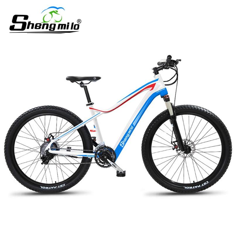 Sheng milo ebike elektrische bike 27,5 zoll elektrische mountainbike 48V240W motor hybrid lithium-batterie elektrische fahrrad 48v