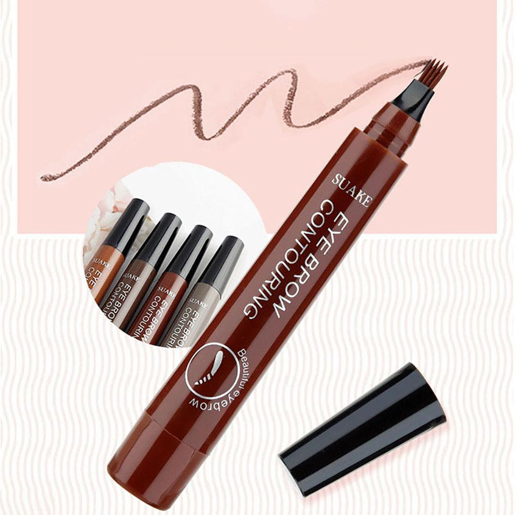 Women Makeup Waterproof Fork Tip   Liquid Eyebrow Tattoo Pen Pencil
