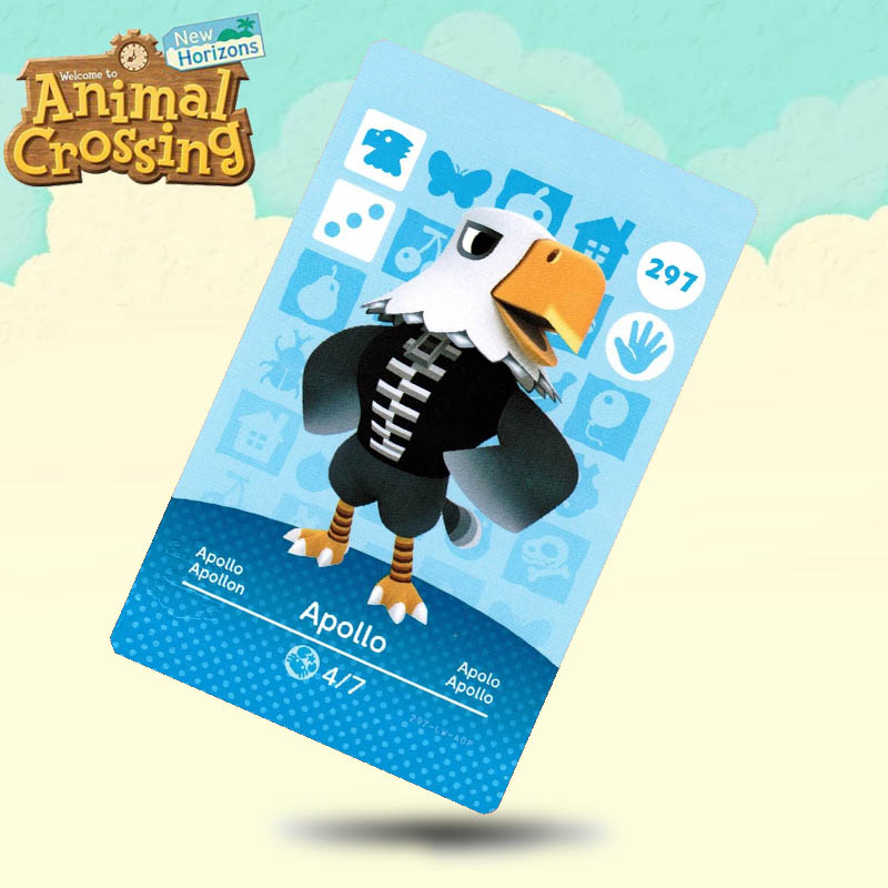 297 Apollo Animal Crossing Card Amiibo Cards Work For Switch NS 3DS Games