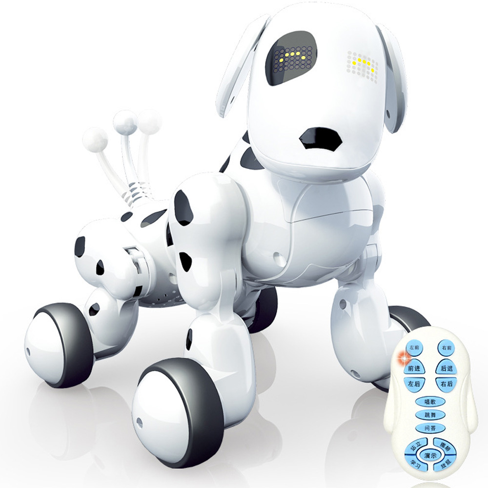 Hot Intelligent Machine Toy Dog 2.4G Wireless Remote Control Dog New Puzzle Electric Dancing Programming Dog Children's Toys