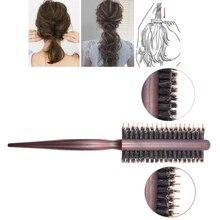 Nylon Teasing Hair Brushes, 3 Row Salon Hairdressing Styling Hair Brush, Boar Bristle Combs for Fluffy Hair, Back Combing