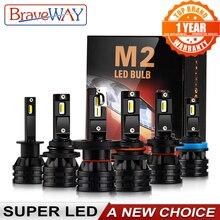 BraveWay LED H4 16000LM coche LED H1 H7 H11 Moto bombilla 12V Auto H4 LED faro de la motocicleta H7 HB3 HB4 9005 9006 H8 H11 H3 lámpara de la niebla faro delantero moto