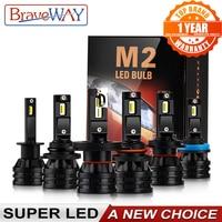 Braveway lâmpada led para farol automotivo  h4  16.000lm  h1  h7  h11  12v  h4  h7  hb3 lâmpada de nevoeiro hb4 9005 9006  h8 h11 h3
