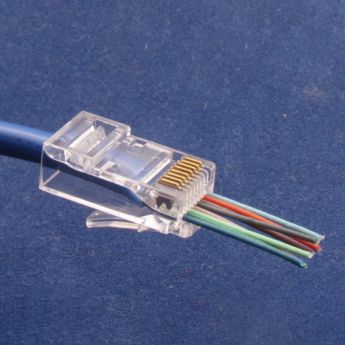 100 Pcs CAT6 EZ RJ45 Pass Through Network Cable Modular Plug Connector Open End