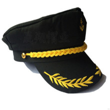 Fashion Black Unisex Boat Ship Sailor Captain Costume Hat Cap Navy Marine Admiral 2019 New Arrive Hot Sale