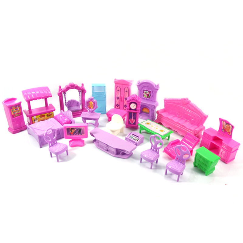LOL Surprise Dolls Furniture Chair Table Bathtub Sofa Bed For Kids Lols Dolls Accessories Action Original Plastic Toys For Girl