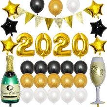 Номер фольгированный шар золото/серебро цифра гелиевые воздушные шары для дня рождения вечерние счастливый год Рождественская вечеринка Декор мультфильм шляпа
