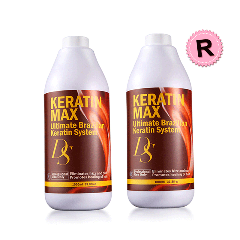Different Style DS Max 12% Formalin 2pcs Keratin Hair Treatment Straighten And Repair Resistant Cruly Hair Free Shipping