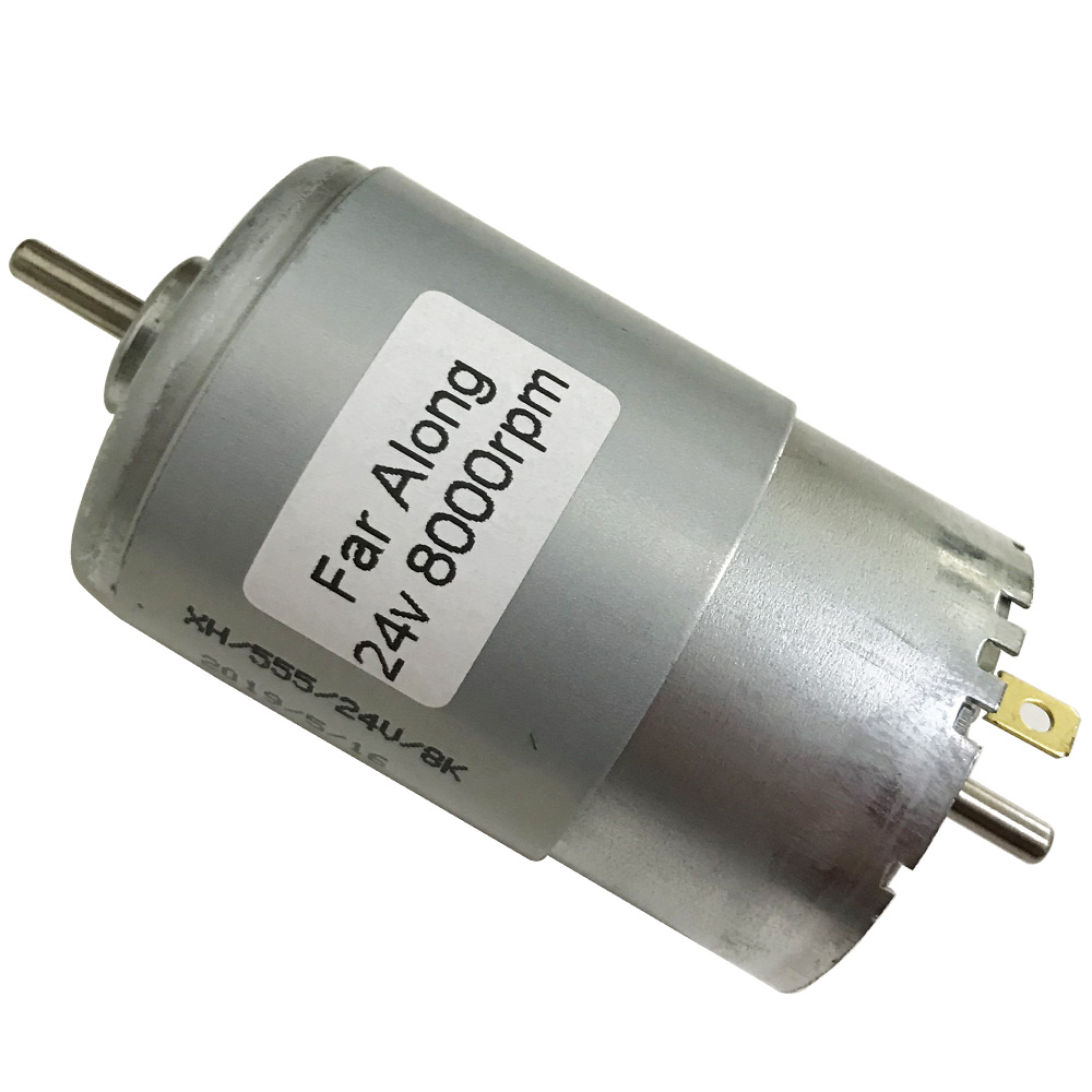 Micro Double Shaft DC High Speed Motor 24V 8000RPM Reversed Carbon Brush High Power DC Motors Use For Robot Toys Smart Device