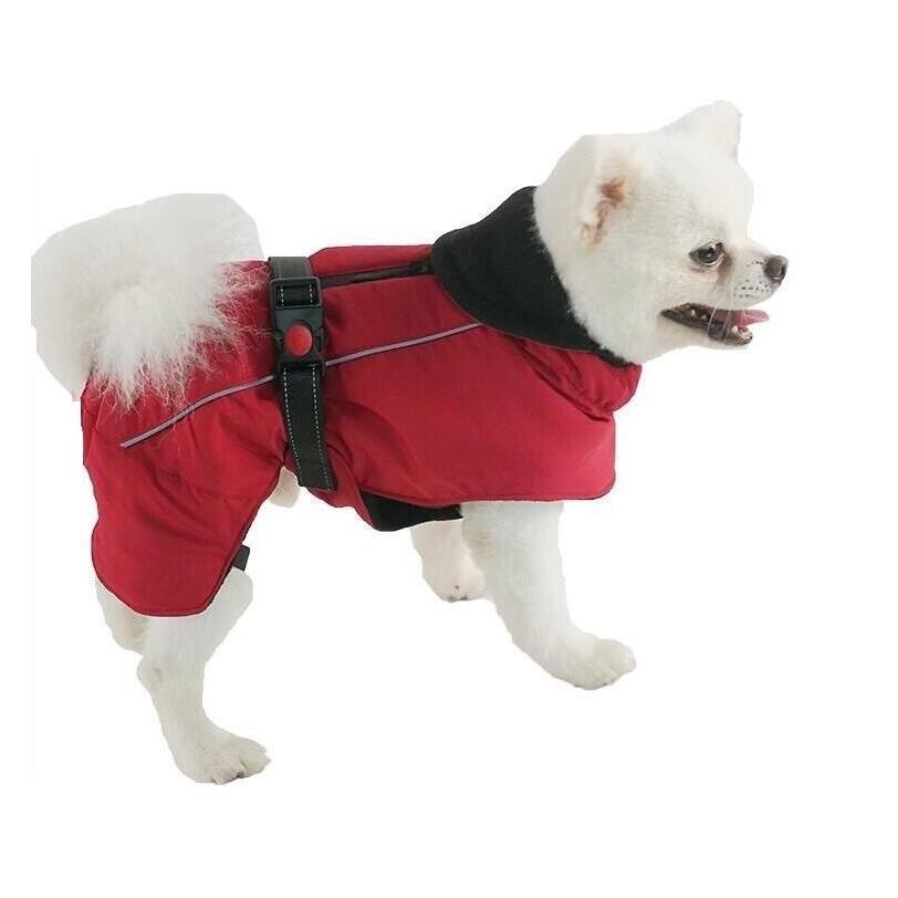 Зимние комбинезоны для собак, теплые Светоотражающие пальто для собак, лыжная куртка, водонепроницаемая одежда для собак, функциональный дизайн для S средних и больших собак-1