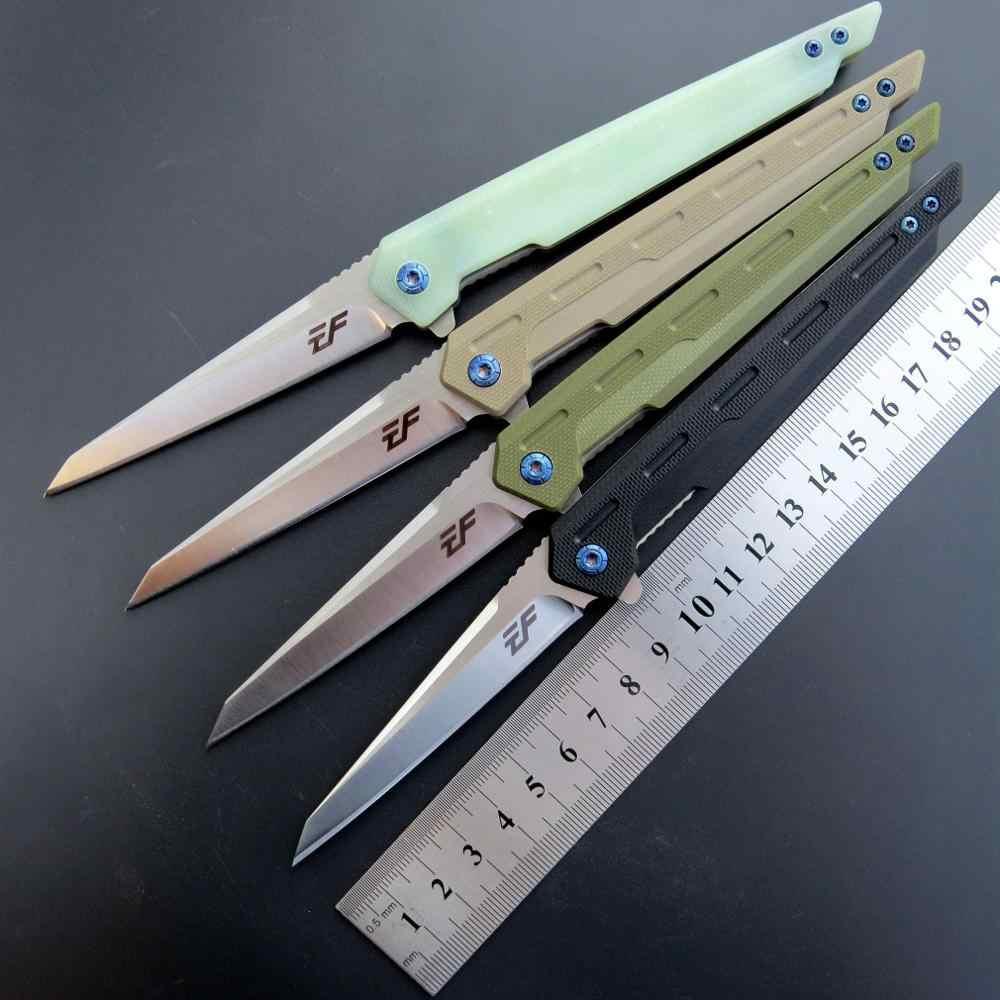 Eafengrow EF917 cuchillo de bolsillo plegable D2 Blade G10 mango supervivencia táctico Camping caza EDC herramienta