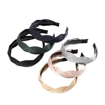 MOLANS Hair Accessories Wide Shiny Weaving Hairbands Braided Headband Hair Hoop Fashion Hair Bands Bezel Headdress 6