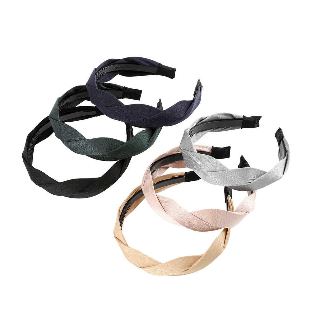 MOLANS sonbahar saç aksesuarları geniş parlak dokuma Hairbands örgülü kafa bandı saç çember moda saç bantları çerçeve Headdress