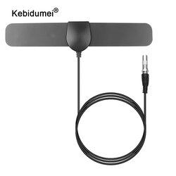 kebidumei High Gain 25dB 80Miles HDTV Indoor TV Antenna for DVB-T2 Digital Amplifier Aerial Indoor Digital TV Antenna
