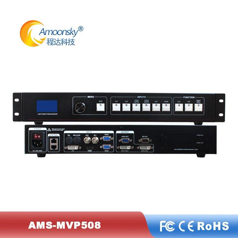 Mutlifunction led video wall controlador mvp508 led processador de vídeo scaler expandir usb sdi entrada para a tela de propaganda alugado