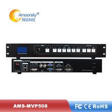 Led processador de exibição ams-mvp508 vídeo parede controlador suporte ts802d linsn envio cartão para publicidade comercial tela led