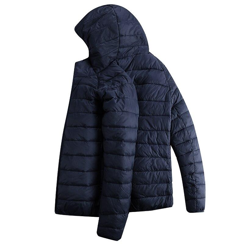 Men Autumn Winter Ultralight Down Jackets Lightweight Overcoats Casual Parkas Hooded Coats Male Breathable Waterproof Jackets