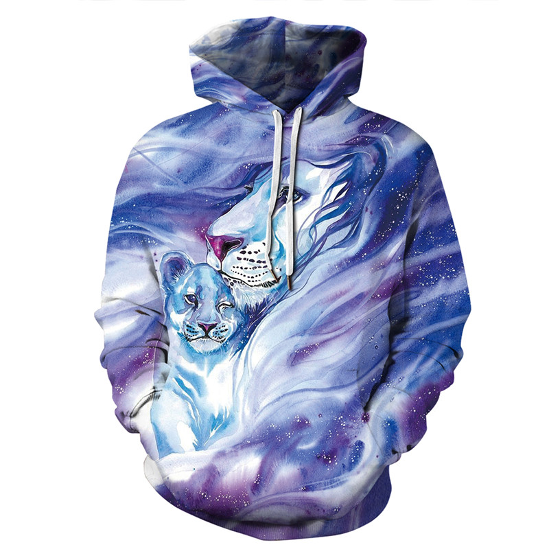 Hoodies Men 2019 Christmas Animal 3D Printing Long Sleeved Women Sweatshirt Uniform Plus Size Top Streetwear Clothes Bluza in Hoodies amp Sweatshirts from Men 39 s Clothing