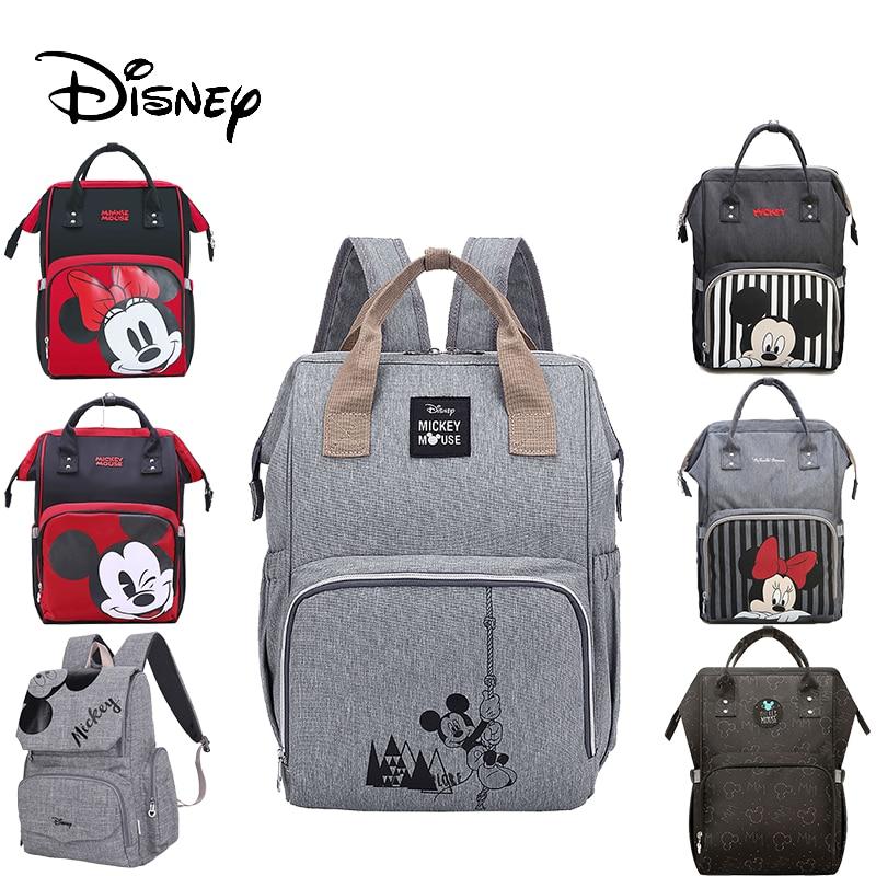 Disney Diaper Backpack Baby Bags For Mom Fashion Mummy Maternity Diaper Organizer Mickey Minnie Stroller Wet Bag For Cart Pram